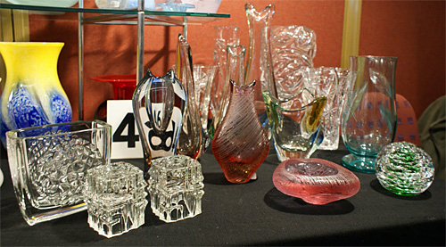 Selection of glass from the May 2011 National Glass Fair