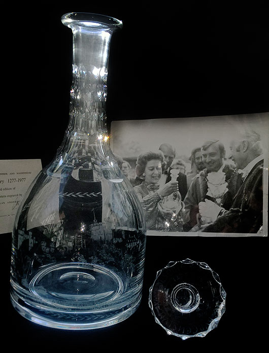 Limited Edition Engraved Decanter, Signed By Nicholas Anderson.